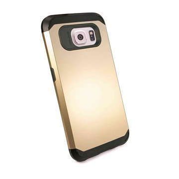 Samsung Galaxy S6 Tuff-luv Armour Kova Suojakotelo Kulta