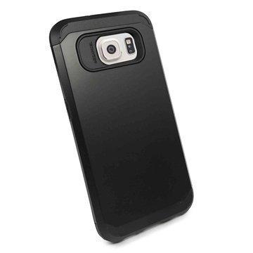 Samsung Galaxy S6 Tuff-luv Armour Kova Suojakotelo Musta