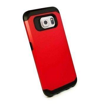 Samsung Galaxy S6 Tuff-luv Armour Kova Suojakotelo Punainen