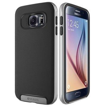 Samsung Galaxy S6 VRS Design Crucial Bumper Series Kotelo Musta / Vaaleanhopea