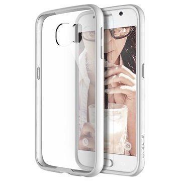 Samsung Galaxy S6 VRS Design Crystal Mixx Series Kotelo Valkoinen