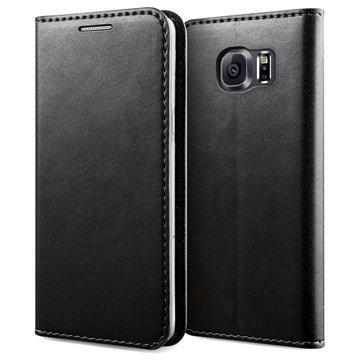 Samsung Galaxy S6 Verus Crayon Slim Series Läppäkotelo Musta