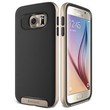 Samsung Galaxy S6 Verus Crucial Bumper Series Case Black / Shine Gold