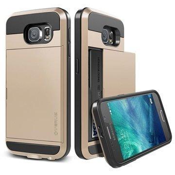 Samsung Galaxy S6 Verus Damda Slide Kotelo Hohtava Kulta