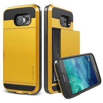 Samsung Galaxy S6 Verus Damda Slide Kotelo Keltainen
