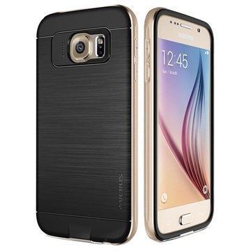 Samsung Galaxy S6 Verus Iron Shield Sarjan Kotelo Kulta