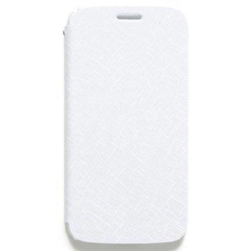 Samsung Galaxy S6 Zenus Prestige Minimal Diary Nahkainen Suojakotelo Valkoinen