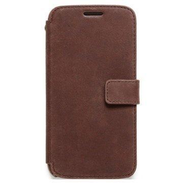 Samsung Galaxy S6 Zenus Prestige Vintage Diary Kotelo Tummanruskea