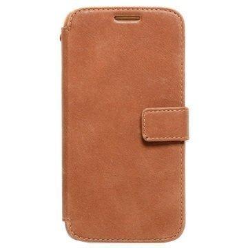 Samsung Galaxy S6 Zenus Prestige Vintage Diary Kotelo Vintage Ruskea
