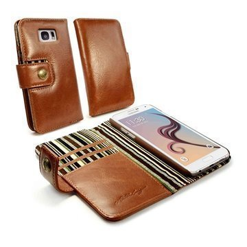 Samsung Galaxy S7 Alston Craig Vintage Rfid Lompakkomallinen Nahkakotelo Ruskea