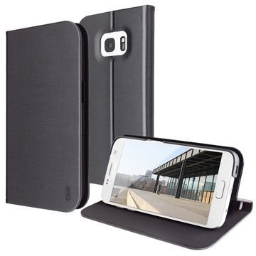 Samsung Galaxy S7 Artwizz SeeJacket Foliokotelo Musta