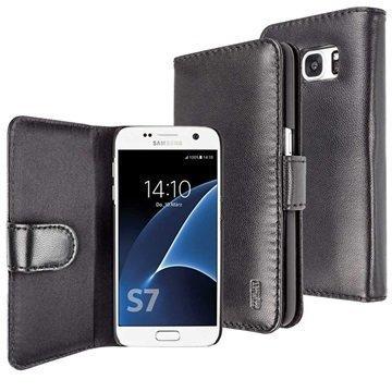 Samsung Galaxy S7 Artwizz SeeJacket Nahkakotelo Musta