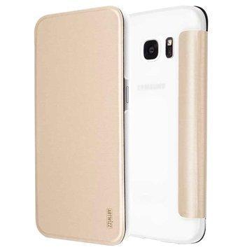 Samsung Galaxy S7 Artwizz SmartJacket Läppäkotelo Kulta