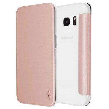 Samsung Galaxy S7 Artwizz SmartJacket Läppäkotelo Ruusukulta