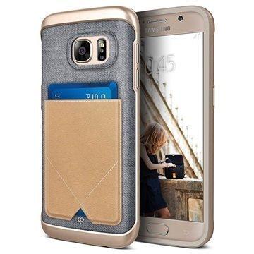 Samsung Galaxy S7 Caseology Messenger Series Hybridi Suojakuori Beige
