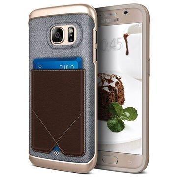 Samsung Galaxy S7 Caseology Messenger Series Hybridi Suojakuori Ruskea