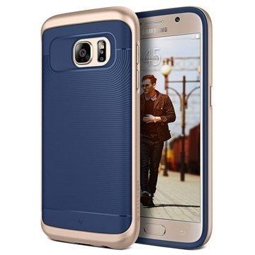 Samsung Galaxy S7 Caseology Wavelength Series Hybridi Suojakuori Laivastonsininen / Kulta