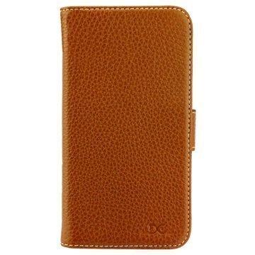 Samsung Galaxy S7 DC Luka Classic Nahkakokotelo Ruskea