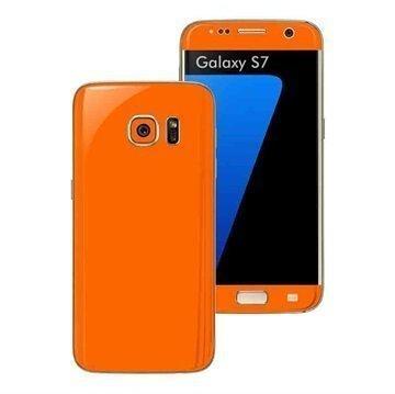 Samsung Galaxy S7 EasySkinz Matt Skin Suojakalvo Oranssi