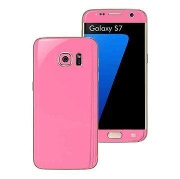 Samsung Galaxy S7 EasySkinz Matt Skin Suojakalvo Pinkki