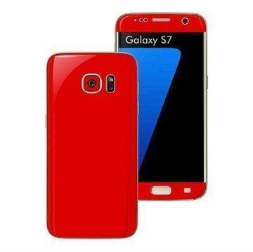 Samsung Galaxy S7 EasySkinz Matt Skin Suojakalvo Punainen