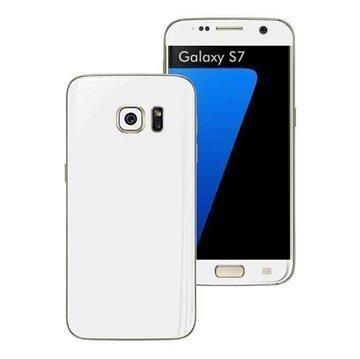 Samsung Galaxy S7 EasySkinz Matt Skin Suojakalvo Valkoinen
