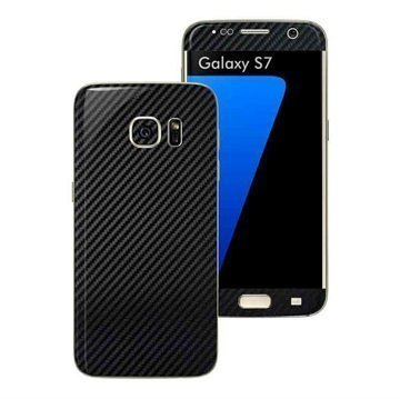 Samsung Galaxy S7 EasySkinz Textured Carbon Fibre Skin Black