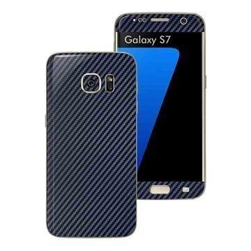 Samsung Galaxy S7 EasySkinz Textured Carbon Fibre Skin Tummansininen