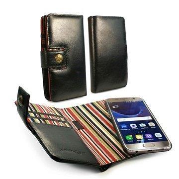 Samsung Galaxy S7 Edge Alston Craig Nahkainen Suojakotelo Musta