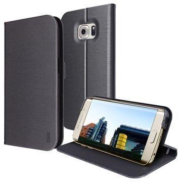 Samsung Galaxy S7 Edge Artwizz SeeJacket Foliokotelo Musta
