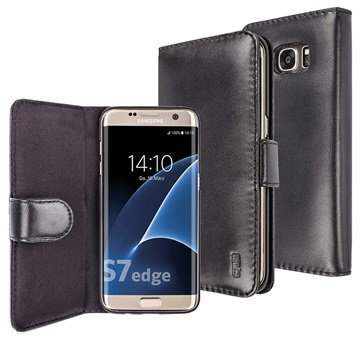 Samsung Galaxy S7 Edge Artwizz SeeJacket Nahkakotelo Musta