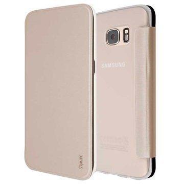 Samsung Galaxy S7 Edge Artwizz SmartJacket Läppäkotelo Kulta