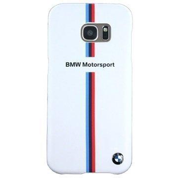 Samsung Galaxy S7 Edge BMW Split Tricolor Stripe Kova Kuori Valkoinen
