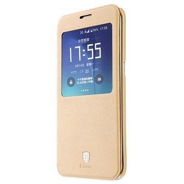 Samsung Galaxy S7 Edge Baseus Terse Series Avattava Kotelo Khaki