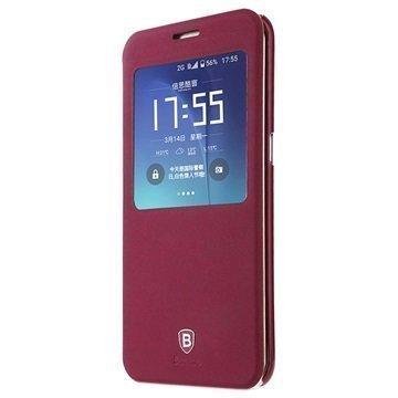 Samsung Galaxy S7 Edge Baseus Terse Series Avattava Kotelo Punainen