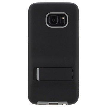 Samsung Galaxy S7 Edge Case-Mate Kova Jalustakotelo Musta / Harmaa