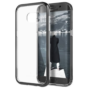 Samsung Galaxy S7 Edge Caseology Skyfall Series Hybridi Suojakuori Musta