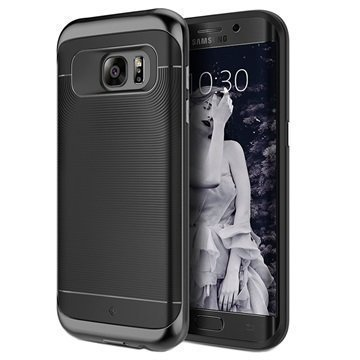 Samsung Galaxy S7 Edge Caseology Wavelength Kotelo Musta
