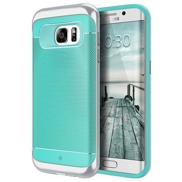 Samsung Galaxy S7 Edge Caseology Wavelength Kotelo Turkoosi / Hopea