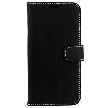 Samsung Galaxy S7 Edge DC Luka Lompakkokotelo Musta