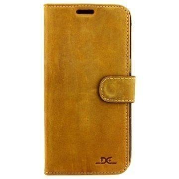 """Samsung Galaxy S7 Edge DC Luka nahkainen lompakkokotelo â"""" Tupakka"""