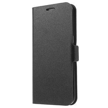Samsung Galaxy S7 Edge Doormoon Nahkainen Lompakkokotelo Musta