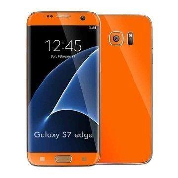 Samsung Galaxy S7 Edge EasySkinz Matt Skin Oranssi