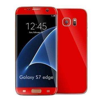 Samsung Galaxy S7 Edge EasySkinz Matt Skin Suojakalvo Punainen