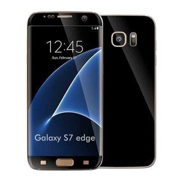 Samsung Galaxy S7 Edge EasySkinz Matta Kalvo Musta