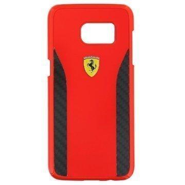 Samsung Galaxy S7 Edge Ferrari Daytona Carbon Kotelo Punainen