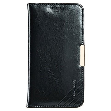 Samsung Galaxy S7 Edge Kalaideng Royale II Nahkainen Lompakkokotelo Musta