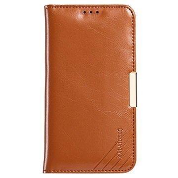 Samsung Galaxy S7 Edge Kalaideng Royale II Nahkainen Lompakkokotelo Ruskea