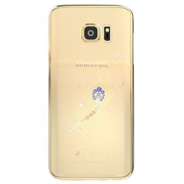 Samsung Galaxy S7 Edge Kingxbar Star Series Kova Suojakuori Riikinkukon Sulka