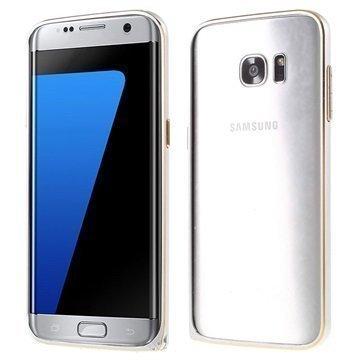 Samsung Galaxy S7 Edge Love Mei Alumiininen Suojakehys Hopea